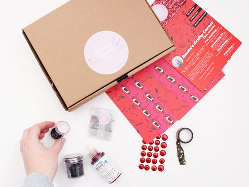 The Glittery Hands Mini Craft Box Uopen