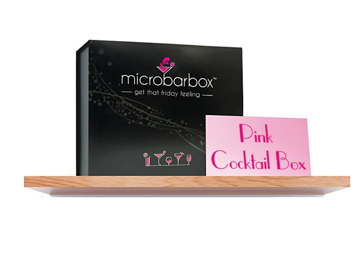 MicroBarBox - Pink Cocktail Gift Box