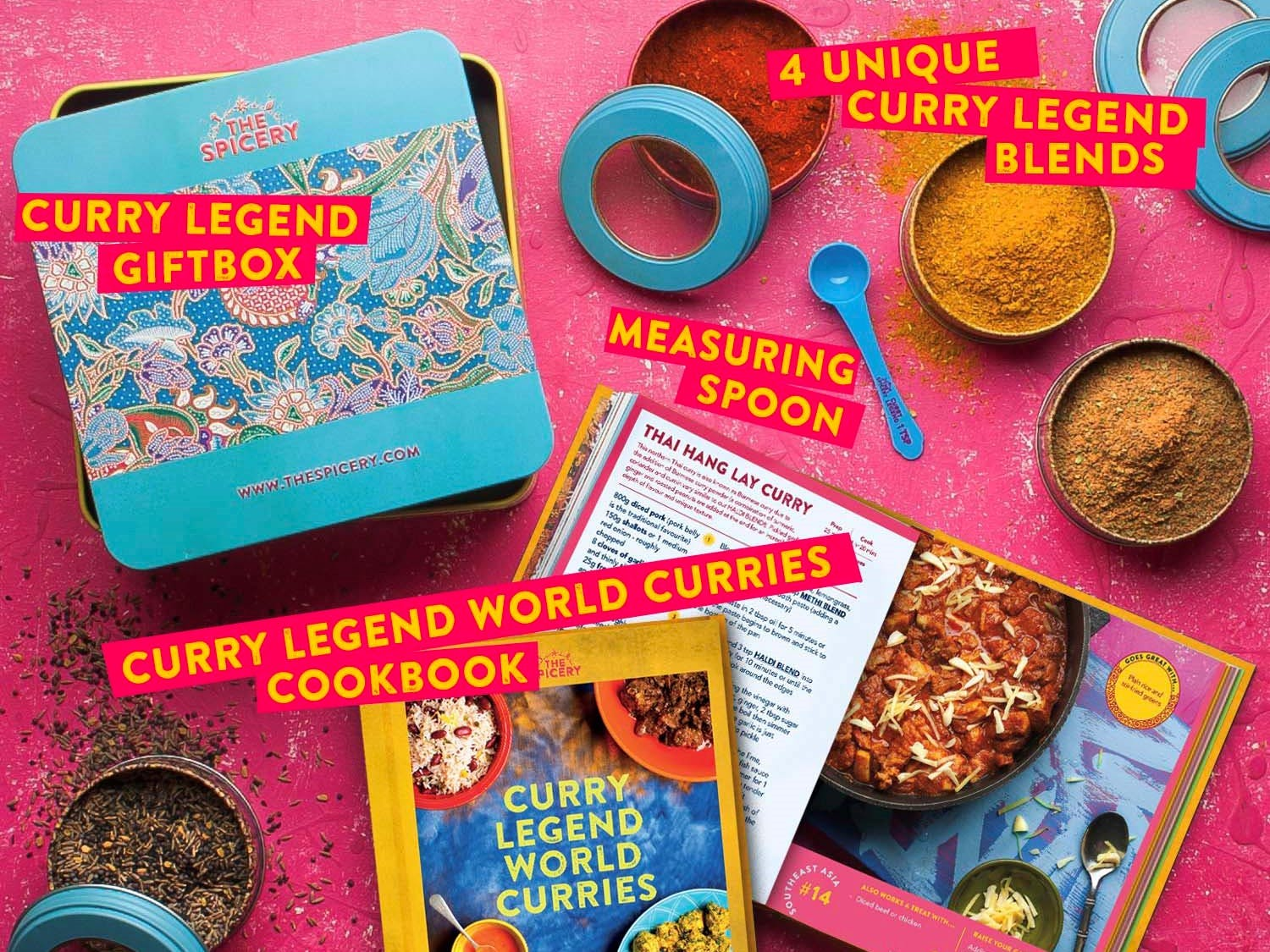 The Spicery's World Curries Cookbook Kit