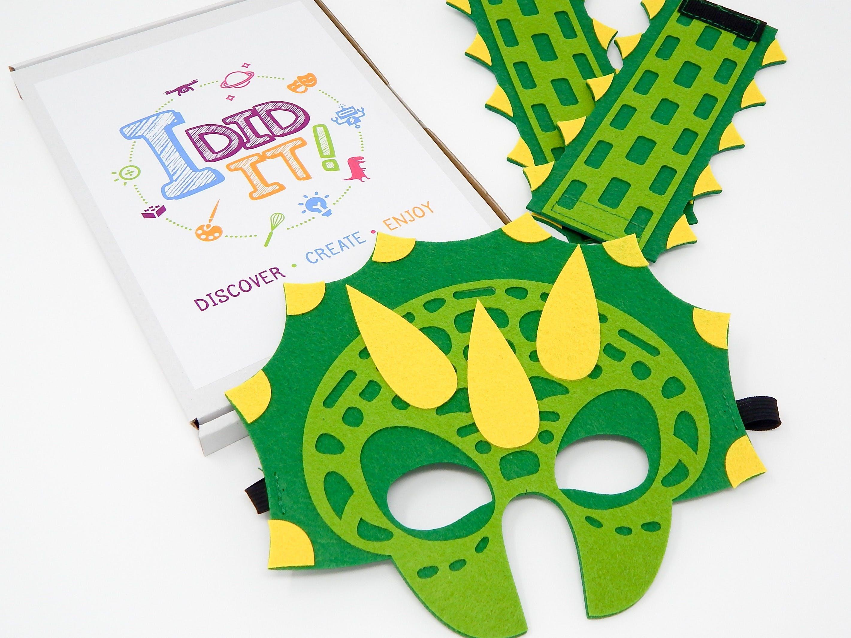 Dinosaur Mask & Cuffs Craft Box - I DID IT!