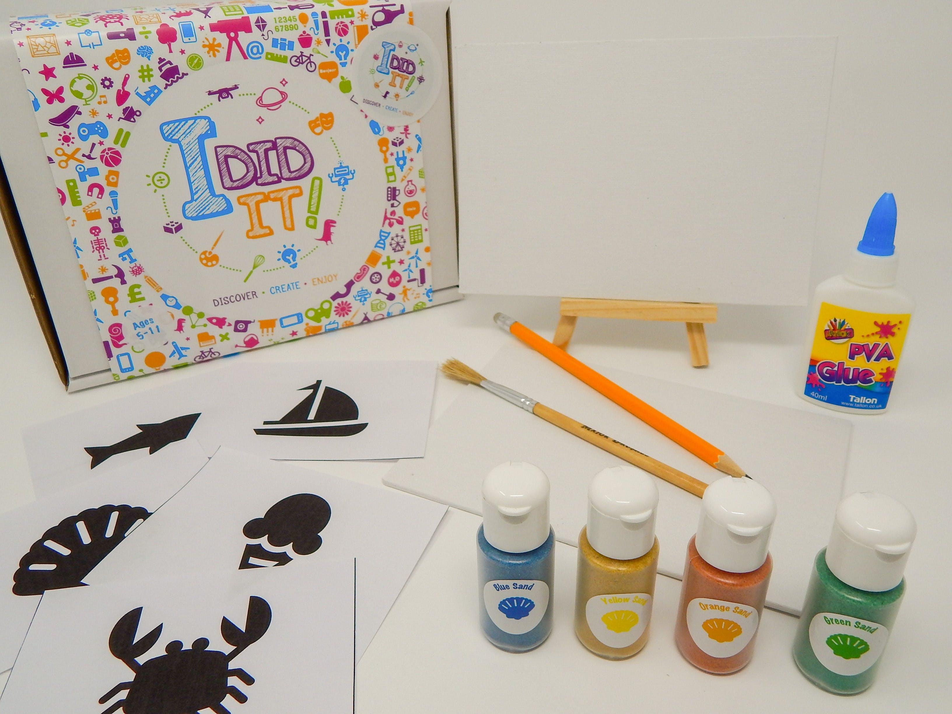 Sand Art Canvas Box - I DID IT!