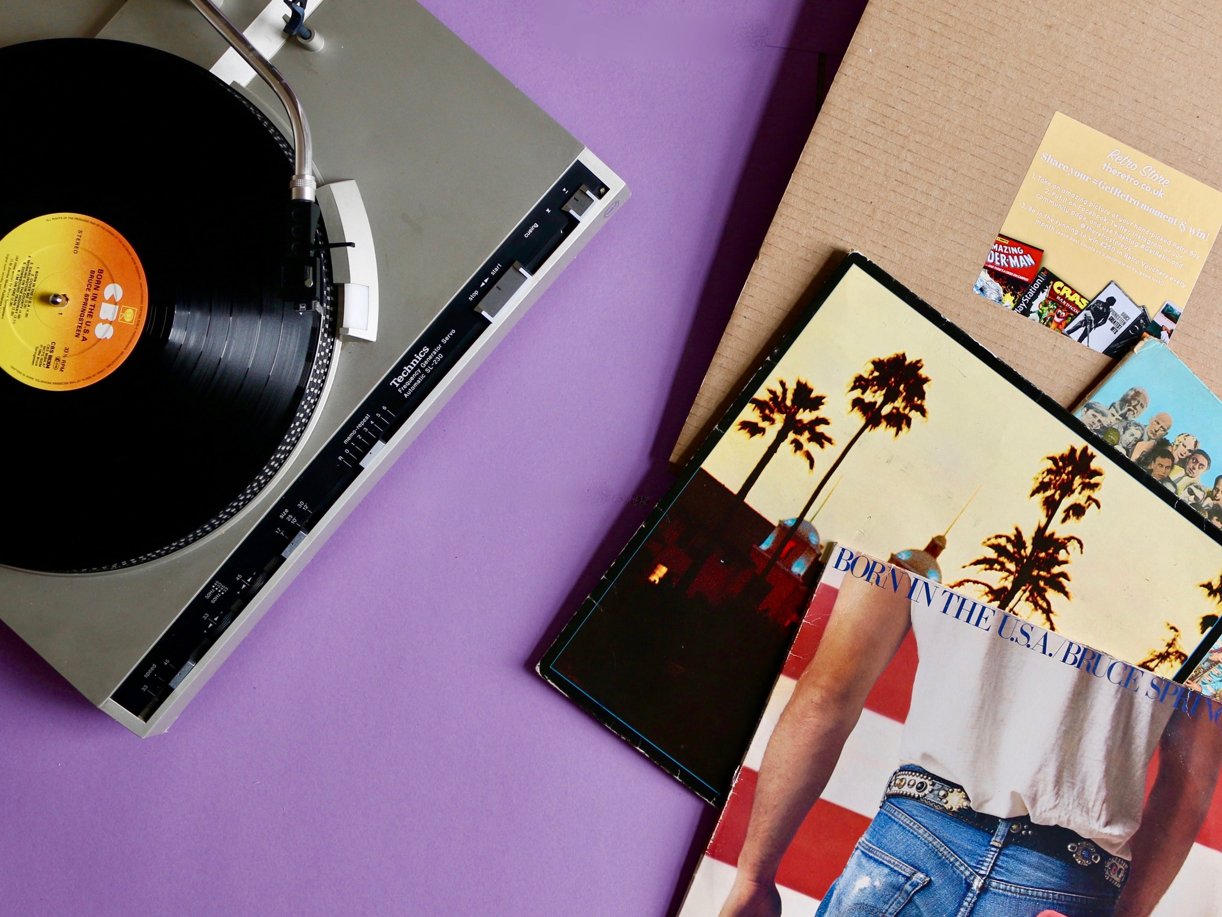 Retro Store Monthly Vinyl Club Subscription Box