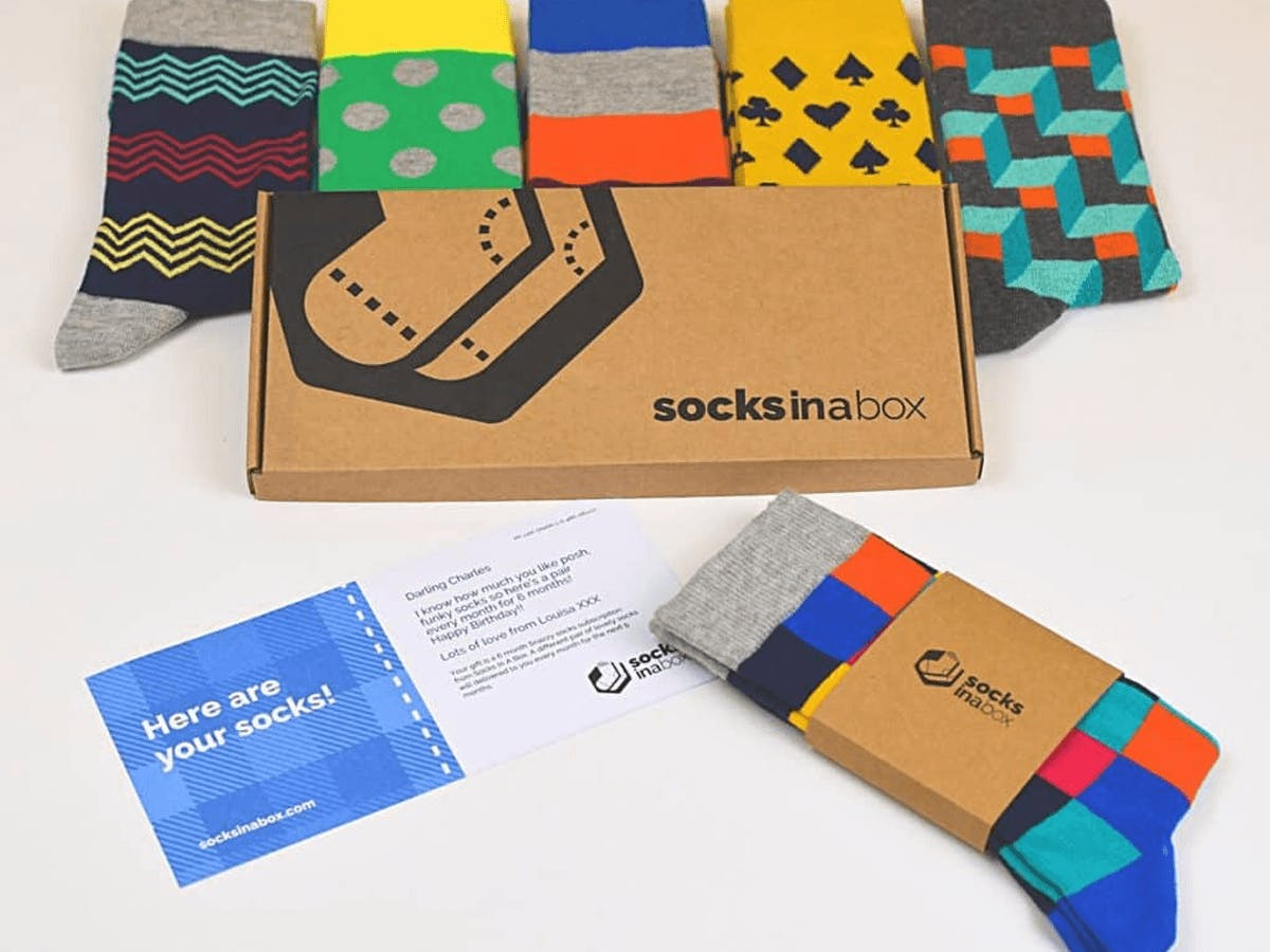 Socks In A Box Men's Edition